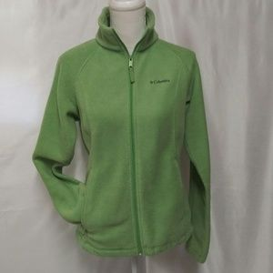 Columbia Sportswear Green Fleece Zip Up Jacket